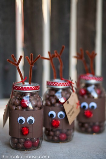 Candy Cane Reindeer Ornaments