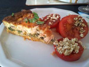 Lachs-Spinat-Quiche ohne Käse