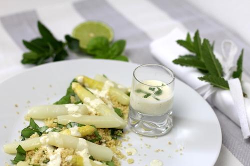 Honig-Spargel auf Kräuter-Couscous 2