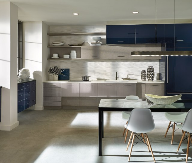 Modern European Style Cabinetry Get Inspired Elan Cabinets In An Open Kitchen Design