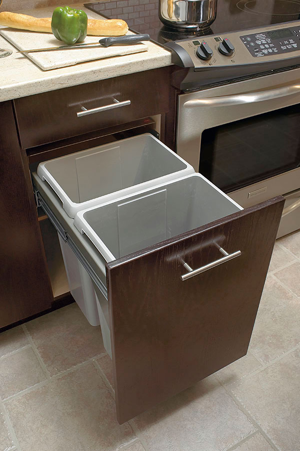 SlideOut Waste Center Cabinet  Kitchen Craft