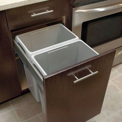 Kitchen Garbage Waterworks Faucets Slide Out Waste Center Cabinet Craft Kctrashbinsocps