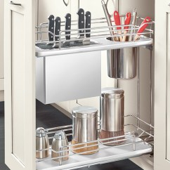 Kitchen Drawer Organizer Wire Shelves Base Knife Holder Pull Out Cabinet - Craft