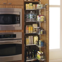 Kitchen Sliding Shelves Mirrored Cabinets Tall Pantry Pull Out Tandem Cabinet - Craft