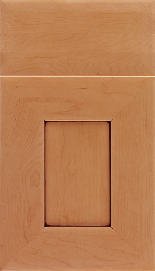 kitchen cabinet door knotty pine cabinets for sale napoli style craft cabinetry maple flat panel in ginger with mocha glaze zoom