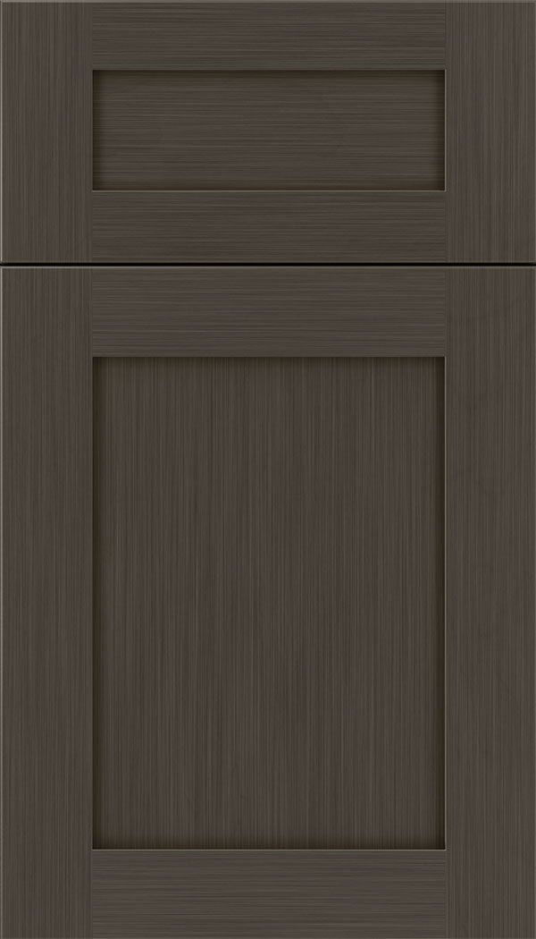 kitchen cabinet brands rolling cart weathered slate - gray finish on maple craft