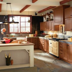 Rustic Kitchen Cabinet Lowes Ideas Cabinets In Rift Oak Craft By Cabinetry