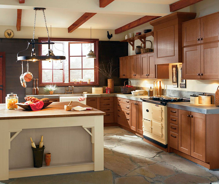 rustic kitchen cabinet home depot kitchens cabinets in rift oak craft by cabinetry