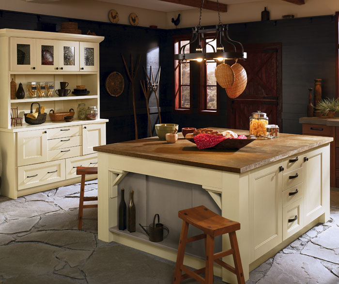 rustic kitchen cabinet small space table cabinets in rift oak craft by cabinetry