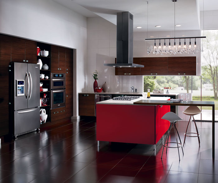 red kitchen islands benches with storage european style island craft cabinets for cabinetry