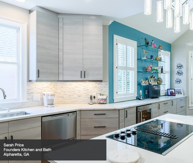 Grey Cabinets In Casual Kitchen By Kitchen Craft Cabinetry Show More