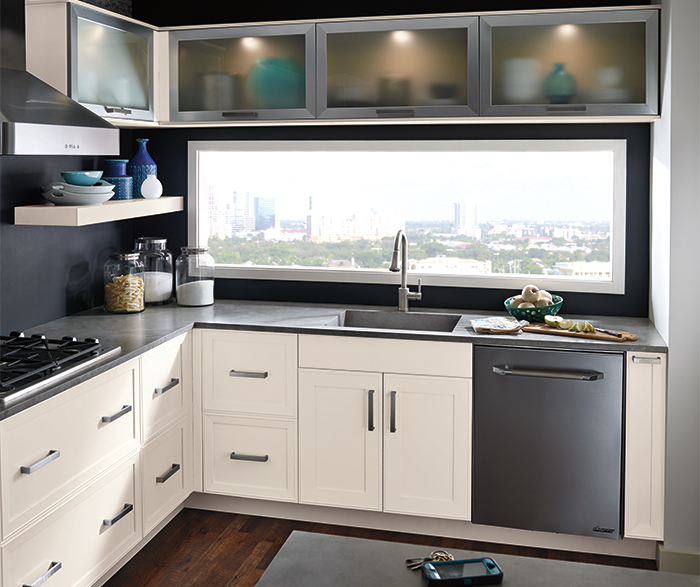 kitchen cabinets stores home depot lighting light grey in white oak craft off by cabinetry