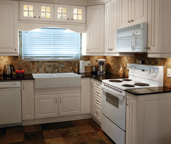 Painted Kitchen Cabinets in Alabaster Finish  Kitchen Craft
