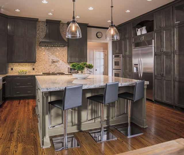 Casual Grey Kitchen Cabinets By Kitchen Craft Cabinetry