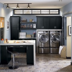 Kitchen Black Cabinets Remodel Cost Laundry Room In Craft Cabinetry Lexington Maple By