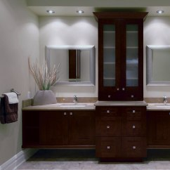 Kitchen Vanities Decorating Ideas For Contemporary Bathroom With Storage Cabinets Craft By Cabinetry
