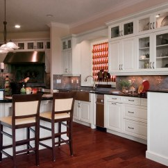 Rustic Painted Kitchen Cabinets Kraftmaid Kitchens Alabaster Opaque Cabinet Finish On Maple - Craft