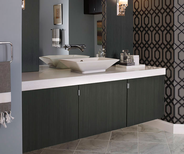 Contemporary Bathroom Vanity in Thermofoil  Kitchen Craft