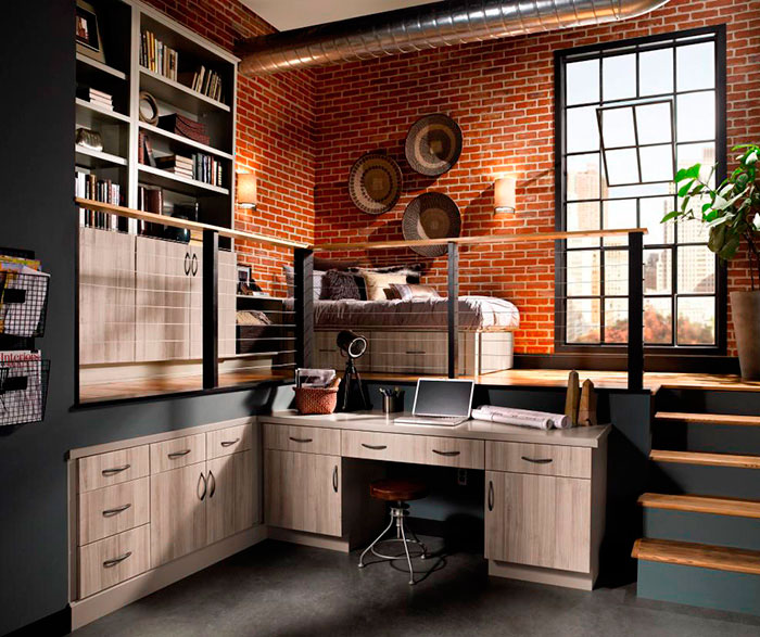 Contemporary Cabinets in Loft Apartment  Kitchen Craft