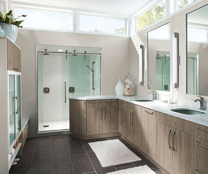 Modern Bathroom Cabinets In Thermofoil Kitchen Craft