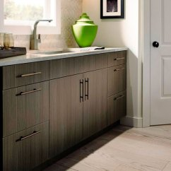 Kitchen Base Cabinet Pull Outs Distressed White Cabinets Thermofoil In Bar Area - Craft Cabinetry