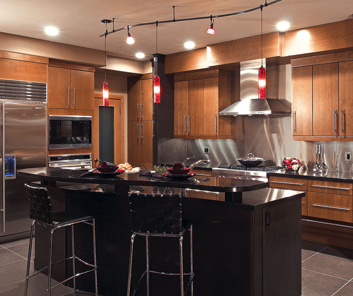 Contemporary Cherry Kitchen Cabinets Kitchen Craft