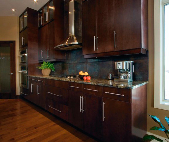 Modern Kitchen Cabinets Espresso Finish Craft Cabinetry