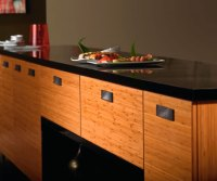 Bamboo Kitchen Cabinets in Natural Finish - Kitchen Craft