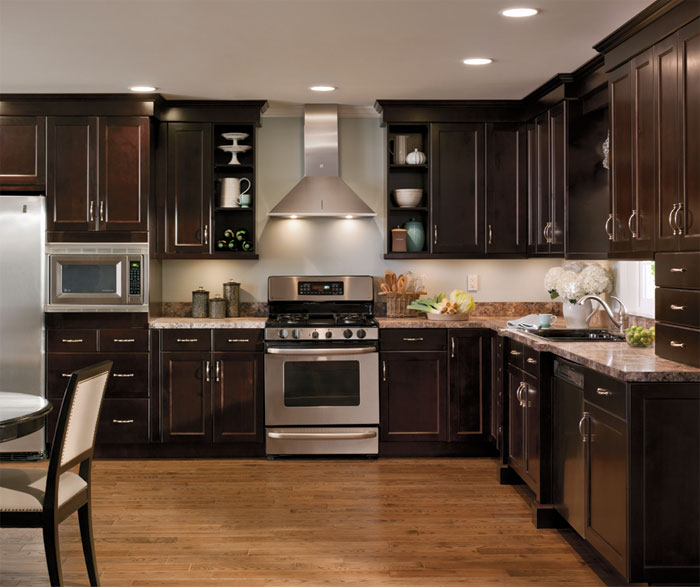 alder kitchen cabinets metal base in casual craft cabinetry by