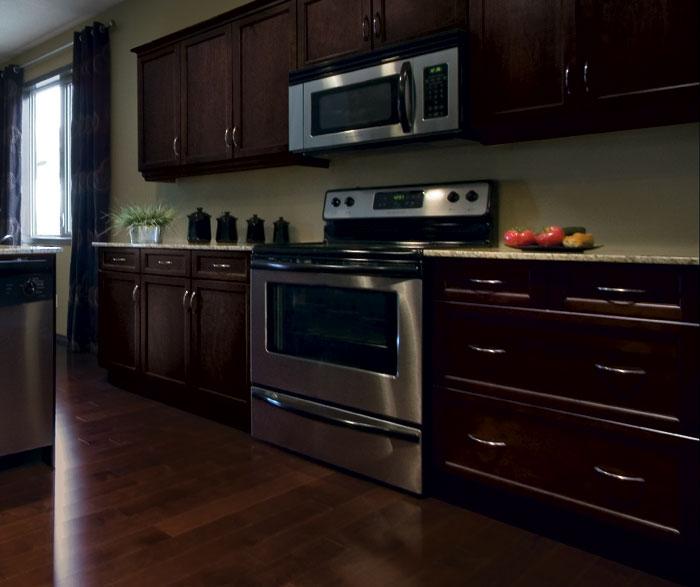 Shaker Kitchen Cabinets in Espresso Finish  Kitchen Craft