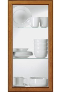 Clear Glass Cabinet Insert - Kitchen Craft Cabinetry