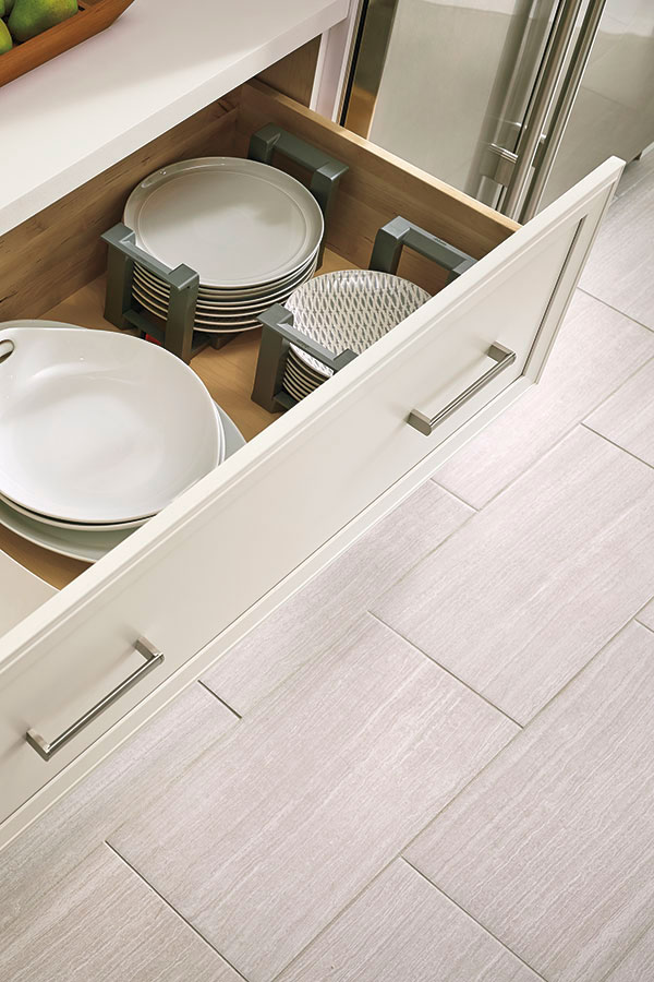 Wide Cabinet Drawer with Plate Holder  Kitchen Craft
