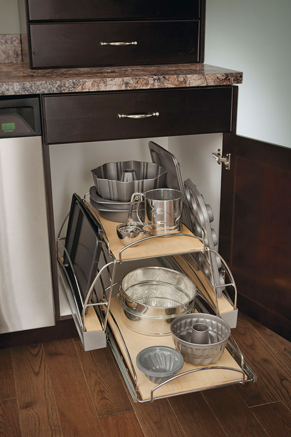 Base Pots and Pans PullOut Cabinet  Kitchen Craft Cabinetry