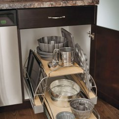 Slide Out Organizers Kitchen Cabinets Red Trash Can Base Pots And Pans Pull-out Cabinet - Craft Cabinetry