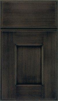 Weathered Slate  Gray Cabinet Finish on Rift Oak