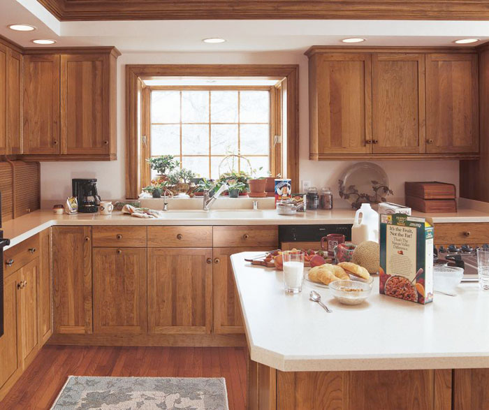Cherry Shaker Cabinets Rustic Kitchen Craft Cabinetry