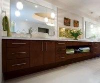 Contemporary Cherry Bathroom Cabinets - Kitchen Craft ...