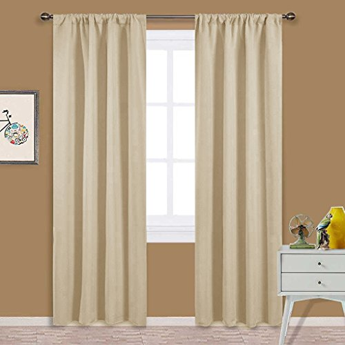 Nicetown Home Fashion Thermal Insulated Solid Rod Pocket