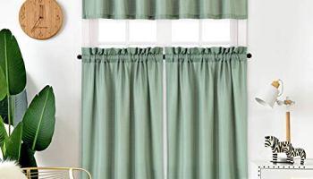 Haperlare 3 Pieces Moroccan Kitchen Window Curtain Set ...