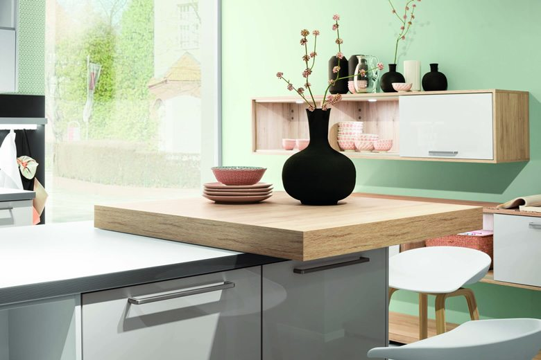 Cristall Taupe kitchen setting