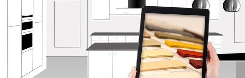 kitchen design with ipad