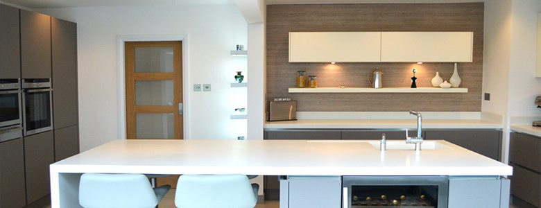 neutral coloured modern kitchen