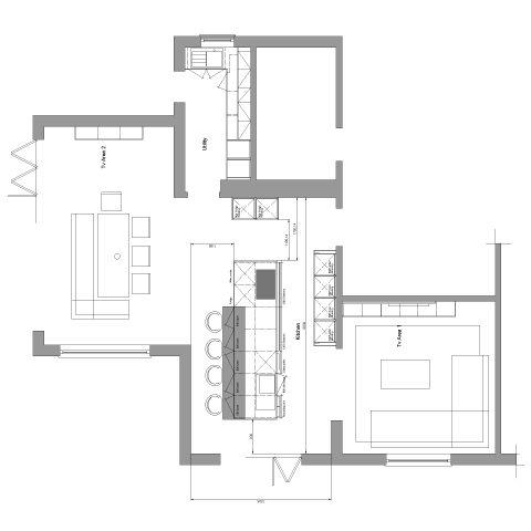 Modern Luxury Kitchen Plan