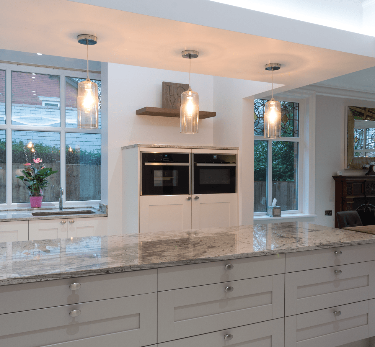 shaker style kitchen make a island traditional with modern twist for customers