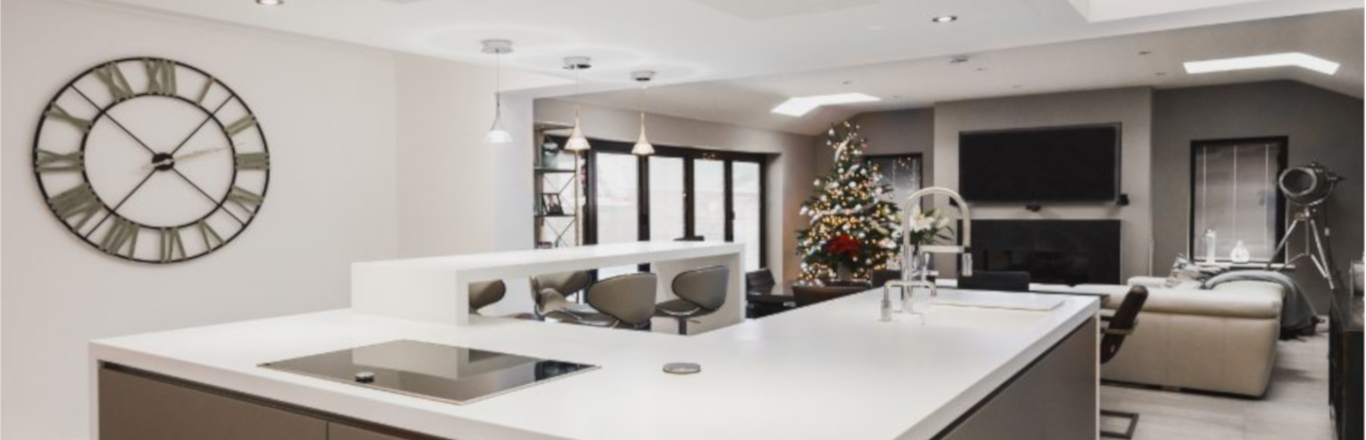 how to decorate your kitchen laminate flooring with a touch of christmas glamour kdc customer decorated for