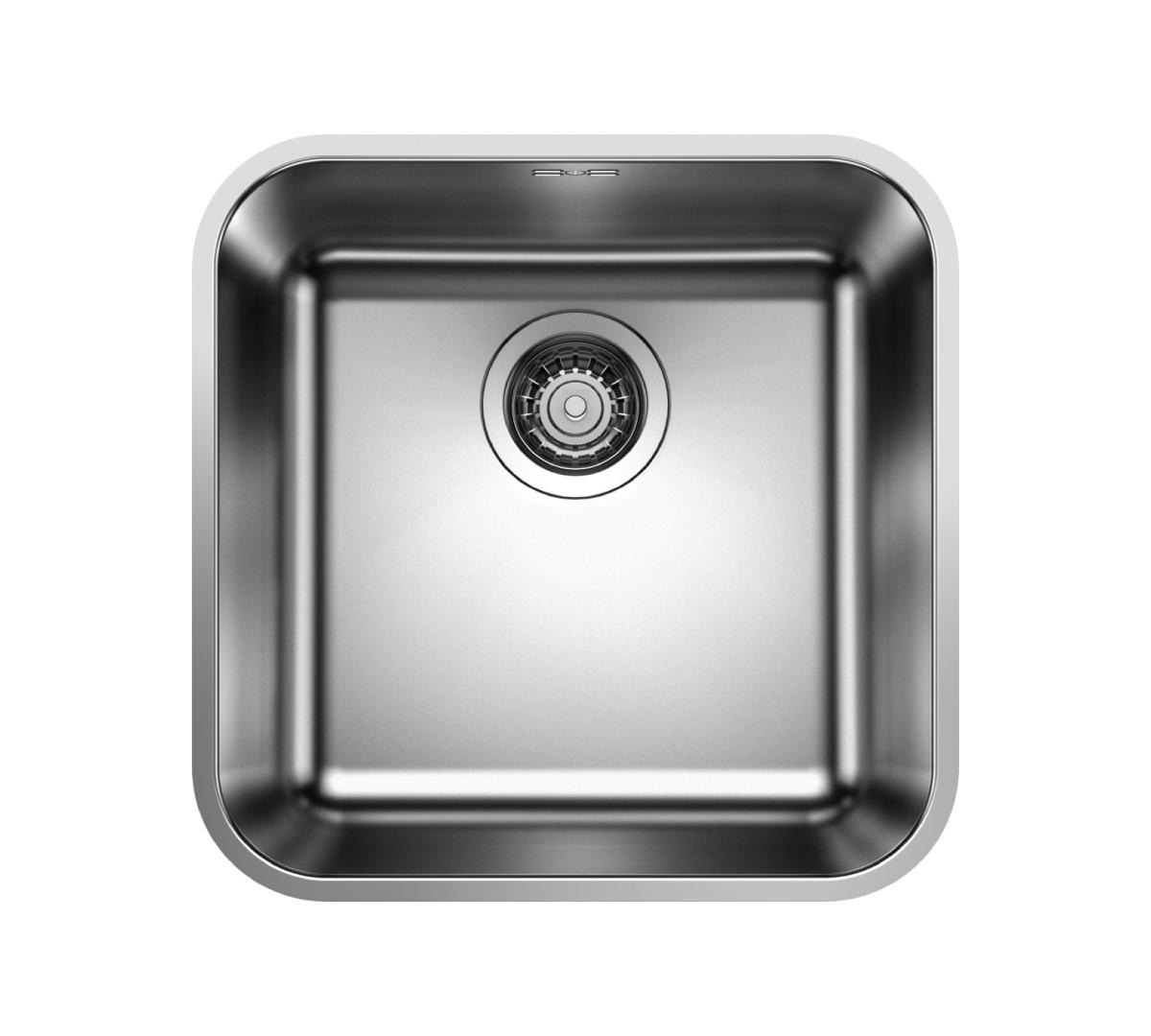 Supra 400-U Undermount Bowl Sink With Crest Tap Stainless Steel
