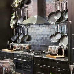 Pot Racks For Kitchen Cabinets Lancaster Pa Amazing Design Network Wall Mounted In Rustic Modern Farmhouse Courtesy Of Pandashouse Com