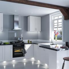 Shaker Style Kitchen Interactive Designer Doors Made To Measure From 2 99 Satin White