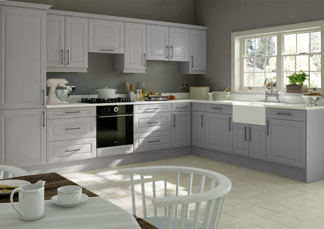 Amberley Light Grey Kitchen Doors Made To Measure From Pound 2 99