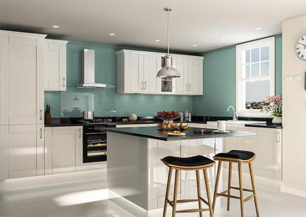 grey high gloss kitchen doors Arlington High Gloss Light Grey Kitchen Doors | Made to Measure from £4.16